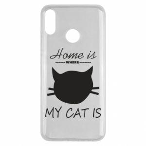 Etui na Huawei Y9 2019 Home is where my cat