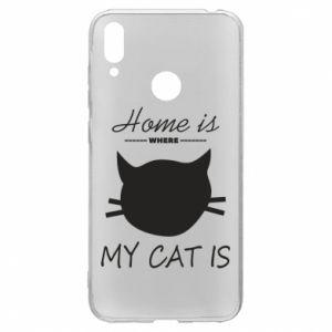 Etui na Huawei Y7 2019 Home is where my cat