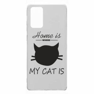 Etui na Samsung Note 20 Home is where my cat