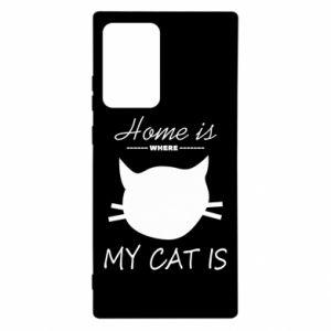 Etui na Samsung Note 20 Ultra Home is where my cat