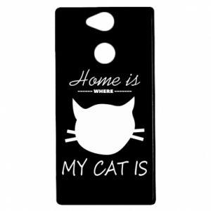 Etui na Sony Xperia XA2 Home is where my cat