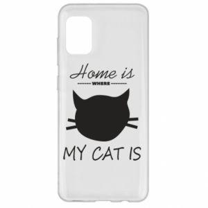 Etui na Samsung A31 Home is where my cat