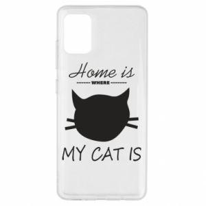 Etui na Samsung A51 Home is where my cat