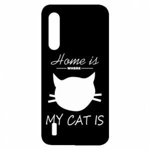 Etui na Xiaomi Mi9 Lite Home is where my cat
