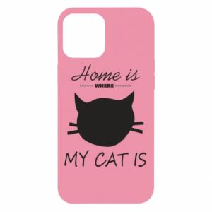 Etui na iPhone 12 Pro Max Home is where my cat