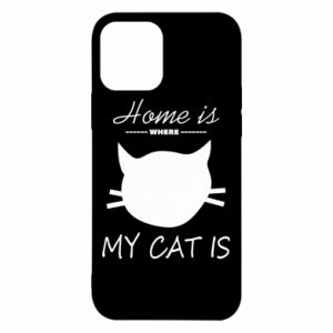 Etui na iPhone 12/12 Pro Home is where my cat