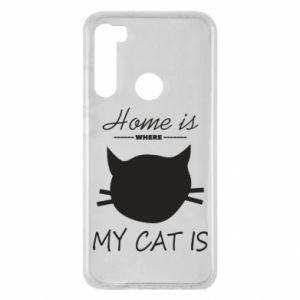 Etui na Xiaomi Redmi Note 8 Home is where my cat