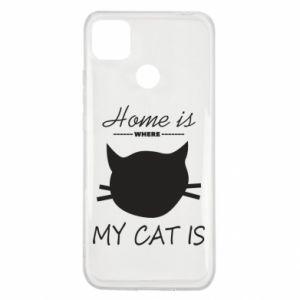 Etui na Xiaomi Redmi 9c Home is where my cat