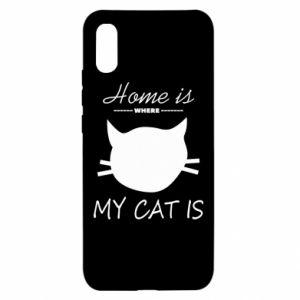 Etui na Xiaomi Redmi 9a Home is where my cat