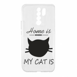 Etui na Xiaomi Redmi 9 Home is where my cat