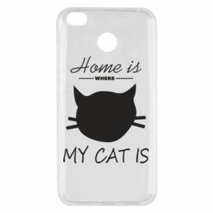 Etui na Xiaomi Redmi 4X Home is where my cat
