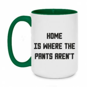 Kubek dwukolorowy 450ml Home is where the pants aren't