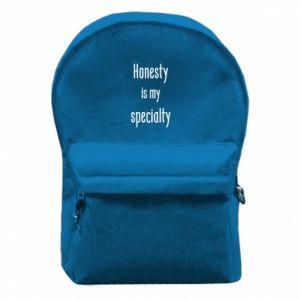 Plecak z przednią kieszenią Honesty is my specialty