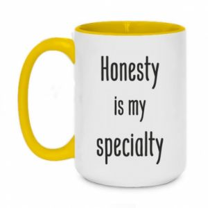 Kubek dwukolorowy 450ml Honesty is my specialty