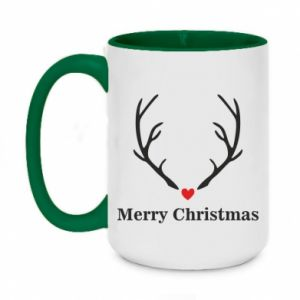 Two-toned mug 450ml Horn, Merry Christmas