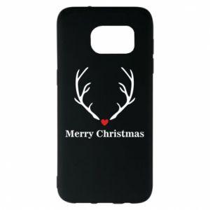 Etui na Samsung S7 EDGE Horn, Merry Christmas