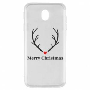 Etui na Samsung J7 2017 Horn, Merry Christmas