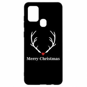 Etui na Samsung A21s Horn, Merry Christmas