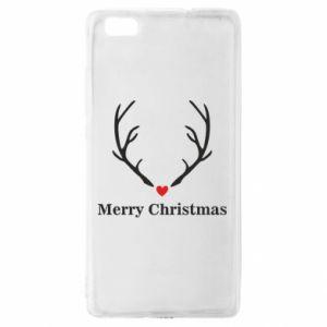 Etui na Huawei P 8 Lite Horn, Merry Christmas