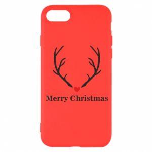 Etui na iPhone SE 2020 Horn, Merry Christmas