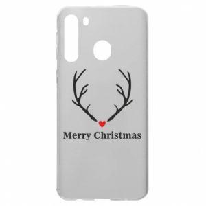 Etui na Samsung A21 Horn, Merry Christmas