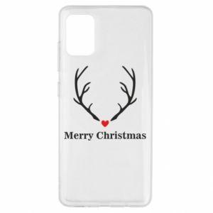 Etui na Samsung A51 Horn, Merry Christmas