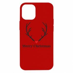 Etui na iPhone 12 Mini Horn, Merry Christmas