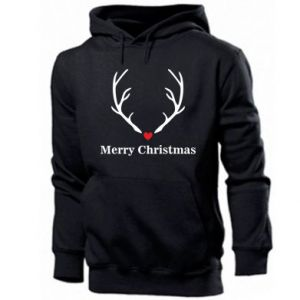 Men's hoodie Horn, Merry Christmas