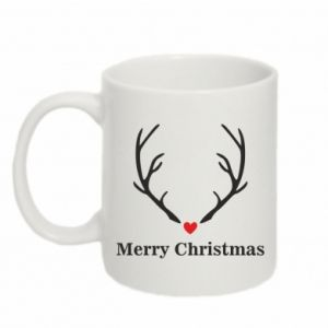 Mug 330ml Horn, Merry Christmas