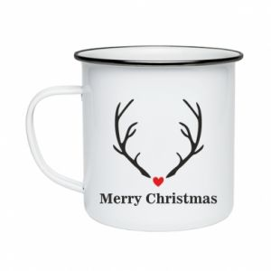 Enameled mug Horn, Merry Christmas