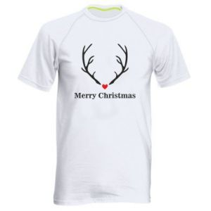Men's sports t-shirt Horn, Merry Christmas