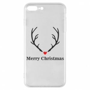 Phone case for iPhone 7 Plus Horn, Merry Christmas