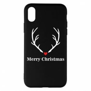 Phone case for iPhone X/Xs Horn, Merry Christmas