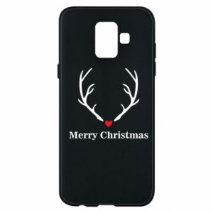 Phone case for Samsung A6 2018 Horn, Merry Christmas
