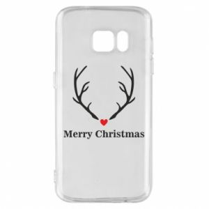 Phone case for Samsung S7 Horn, Merry Christmas