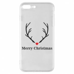 Phone case for iPhone 8 Plus Horn, Merry Christmas