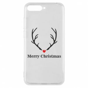 Phone case for Huawei Y6 2018 Horn, Merry Christmas
