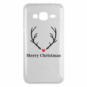 Phone case for Samsung J3 2016 Horn, Merry Christmas