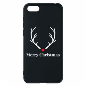 Phone case for Huawei Y5 2018 Horn, Merry Christmas