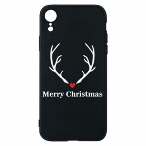 Phone case for iPhone XR Horn, Merry Christmas