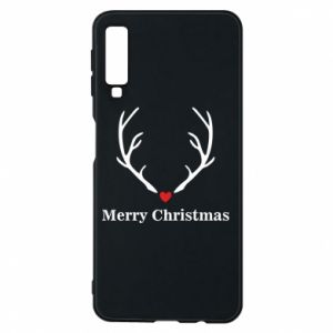 Phone case for Samsung A7 2018 Horn, Merry Christmas