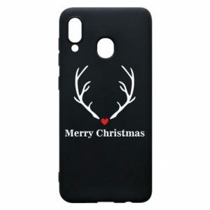 Phone case for Samsung A20 Horn, Merry Christmas