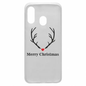 Phone case for Samsung A40 Horn, Merry Christmas