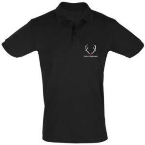 Men's Polo shirt Horn, Merry Christmas