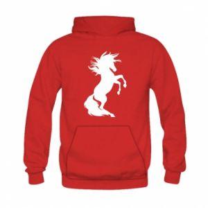 Bluza z kapturem dziecięca Horse on hind legs