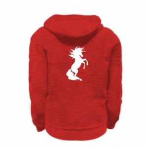 Bluza na zamek dziecięca Horse on hind legs