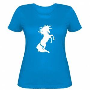 Damska koszulka Horse on hind legs - PrintSalon