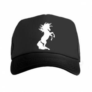 Trucker hat Horse on hind legs