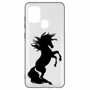 Etui na Samsung A21s Horse on hind legs