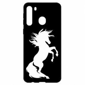 Etui na Samsung A21 Horse on hind legs